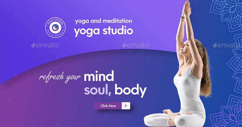 Yoga Banner Pack By Pshalive Graphicriver
