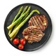 plate of grilled steaks on white background - PhotoDune Item for Sale