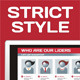 Strict Style - Active Red Color - GraphicRiver Item for Sale