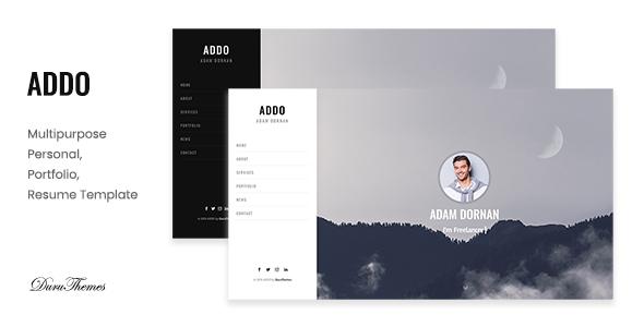 ADDO - Multipurpose Personal, Portfolio and Resume Template