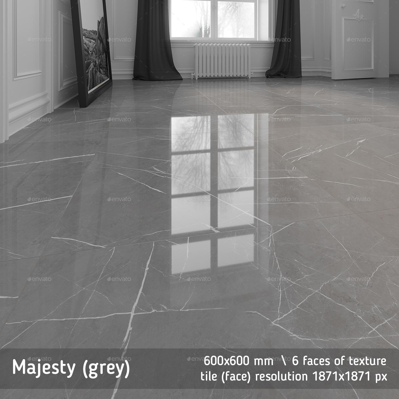 Majesty Grey Floor Tile By Golden
