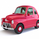 Red cartoon car on white background - PhotoDune Item for Sale