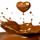 Drop of chocolate in form of heart - PhotoDune Item for Sale