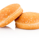 Two hamburger buns with sesame isolated on white background - PhotoDune Item for Sale
