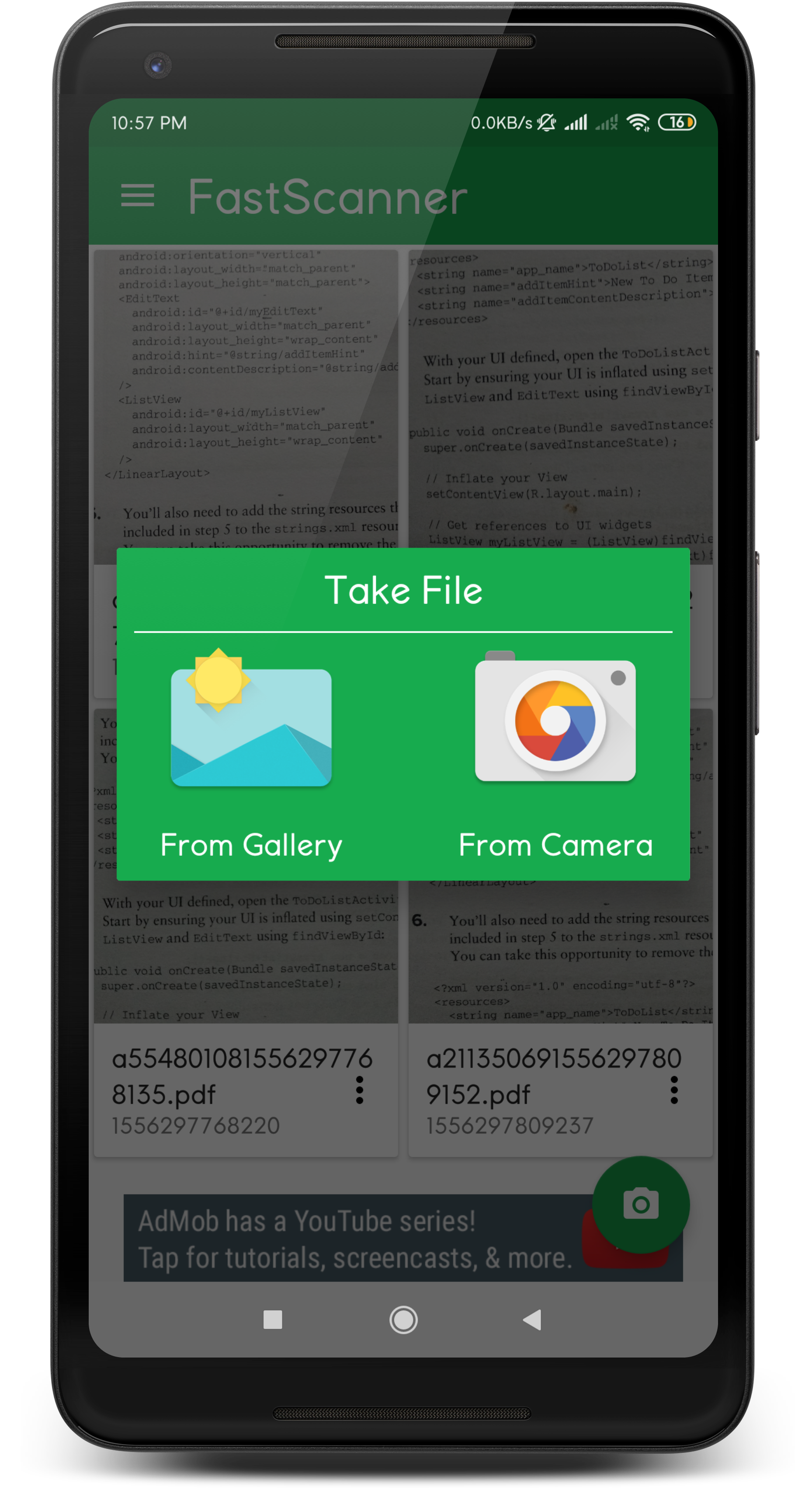 Fast Scanner For Android with Admob