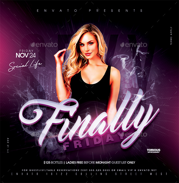 night club flyer template by take2design