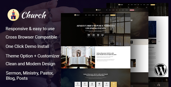 Cathedral – Multi Purpose Church WordPress Theme