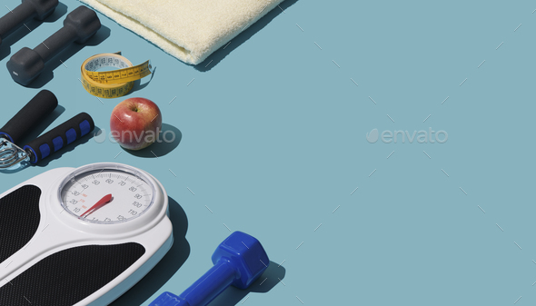 Training and fitness equipment - Stock Photo - Images