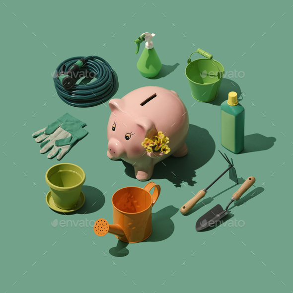 Gardening and horticulture tools collection - Stock Photo - Images