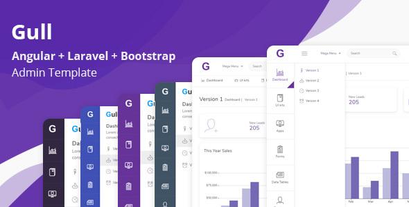 Gull - Angular + Laravel + Bootstrap Admin Dashboard Template
