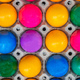 Colorful Easter eggs full background. Top view - PhotoDune Item for Sale
