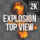 Explosion Top View 1 - VideoHive Item for Sale