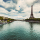 Eiffel Tower and Seine River in Paris - PhotoDune Item for Sale