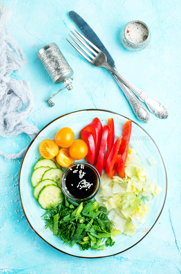 vegetables for salad - Stock Photo - Images