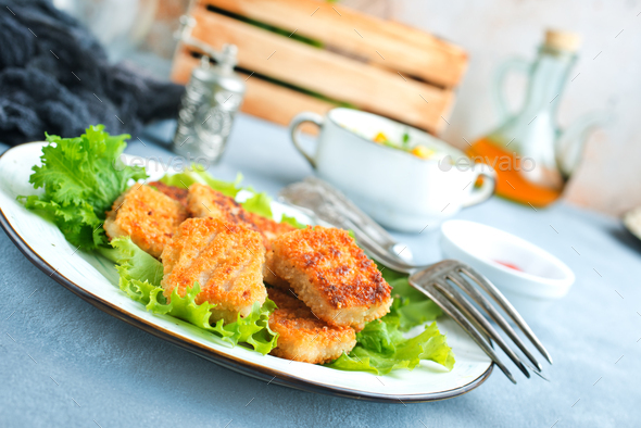 fish nuggets - Stock Photo - Images