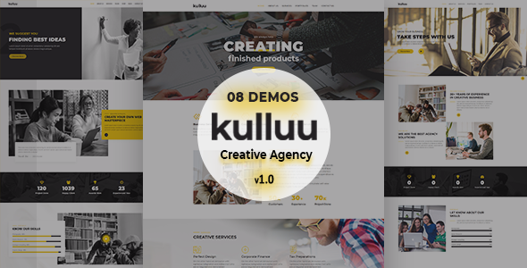 Kulluu - Creative Agency Joomla Template