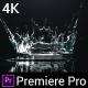 Water Drop Splash Logo - Premiere Pro - VideoHive Item for Sale