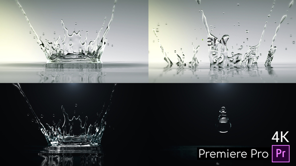 Water Drop Splash Logo – Premiere Pro