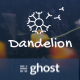 Free Download Dandelion - Modern Ghost Theme for Personal or Company Blogging Nulled