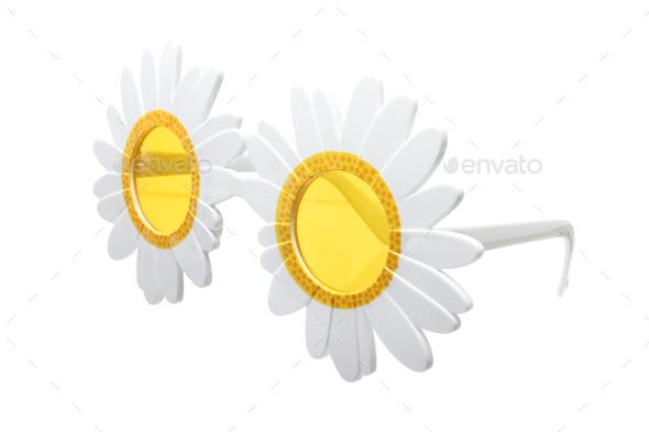 Flower Shape Sunglasses - Stock Photo - Images
