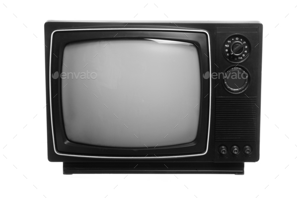 Retro Portable Television - Stock Photo - Images