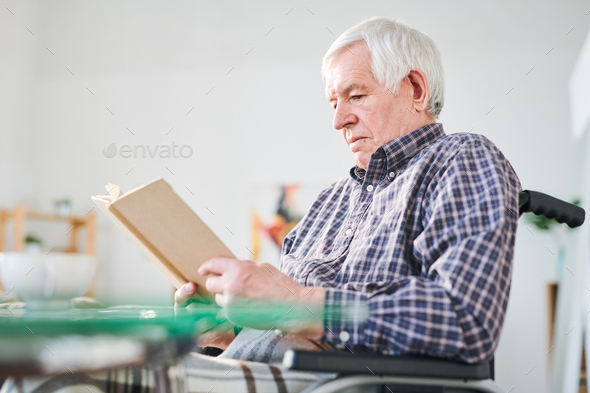 Reading in retirement home - Stock Photo - Images