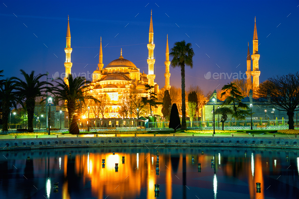 Blue Mosque in Istanbul - Stock Photo - Images