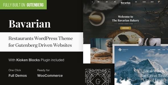 Bavarian - WordPress Theme for Restaurants