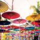 Umbrella of hanging at sky - PhotoDune Item for Sale