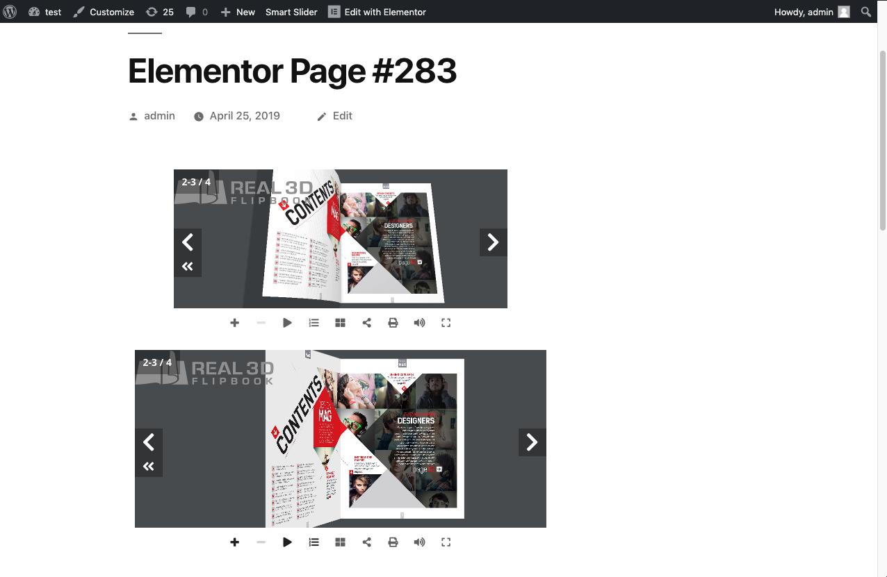Real3D Flipbook Elementor Addon