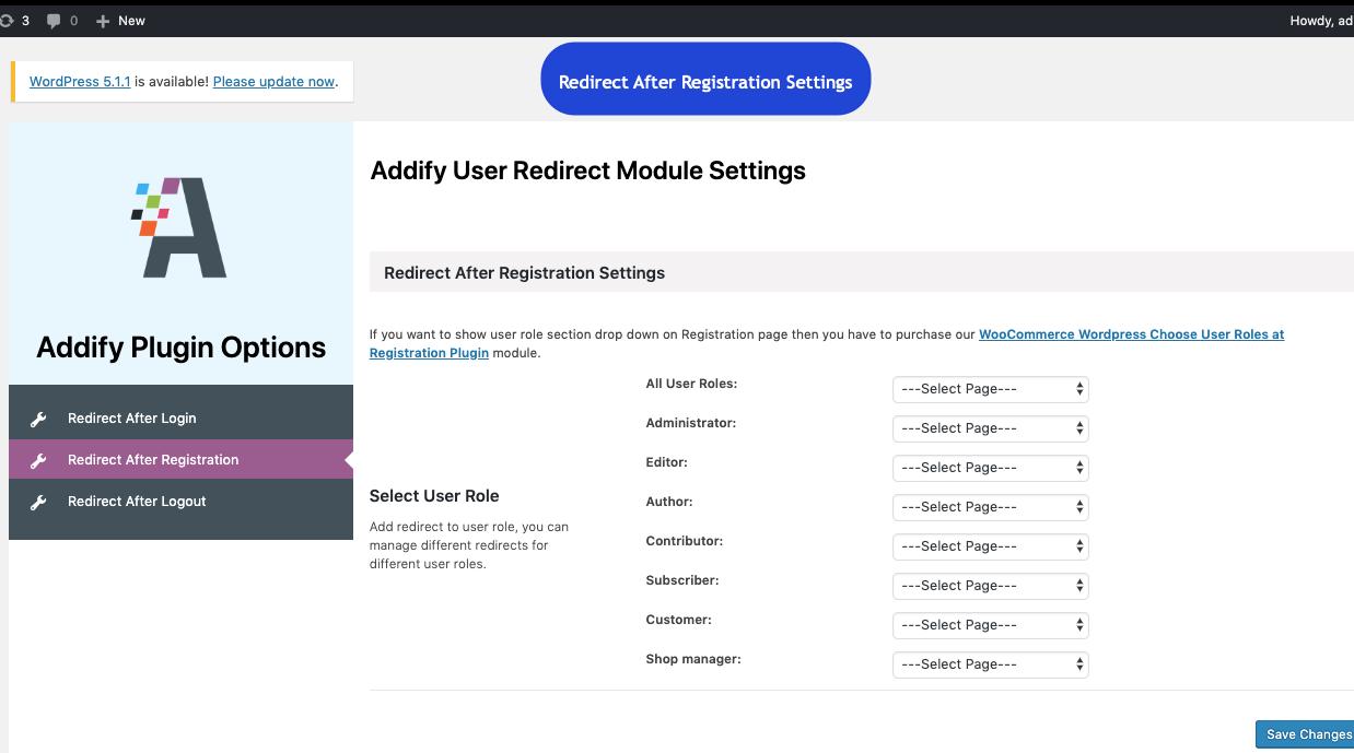 WordPress Redirect after Login, Signup & Logout based on User Role