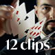 Collection of Motocross Magician Performing Magic Tricks with Cards - Pack of 12 Clips - VideoHive Item for Sale