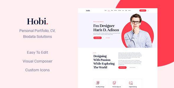 Hobi - Personal Portfolio WordPress Theme