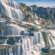 Flowing water of Pongour cascade waterfall. Da Lat, Vietnam - PhotoDune Item for Sale