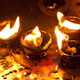 Burning oil lamps at Hindu temple. India - PhotoDune Item for Sale