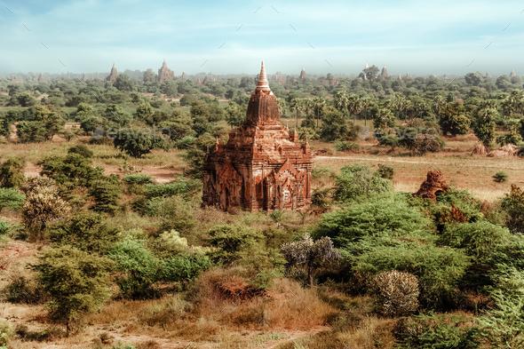 Temples at Bagan Kingdom, Myanmar (Burma) - Stock Photo - Images