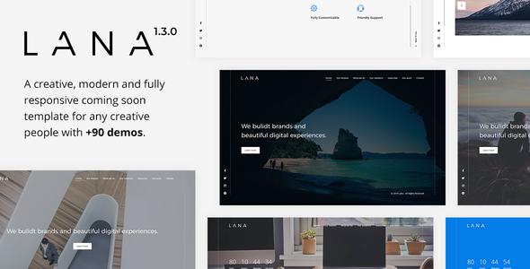 Lana - Creative Coming Soon Template by Erilisdesign