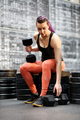 Fit muscular young woman athlete at the gym - PhotoDune Item for Sale