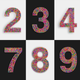 Set Multicolored Numbers - VideoHive Item for Sale