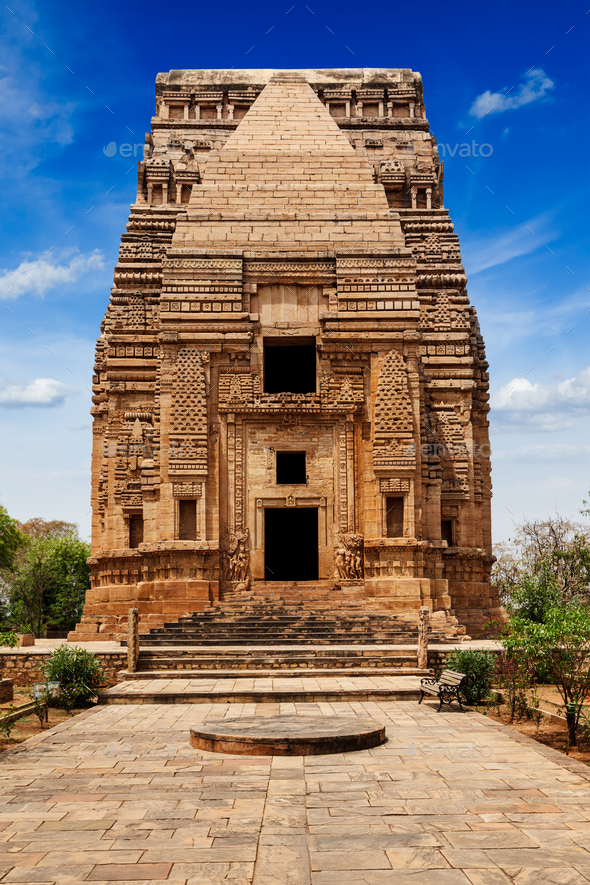 Teli Ka Mandir Hindu temple in Gwalior fort - Stock Photo - Images