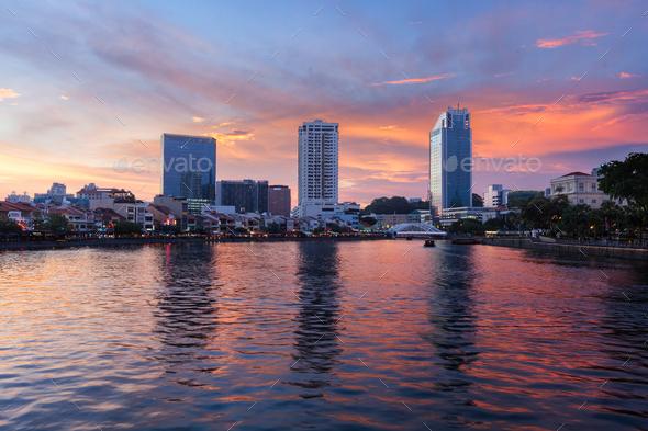 Travel Singapore background - Stock Photo - Images