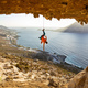 Rock climber hanging on rope after falling of cliff - PhotoDune Item for Sale