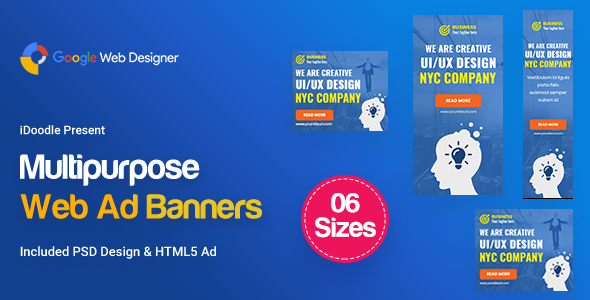 C09 - Multipurpose, Business Banners GWD & PSD