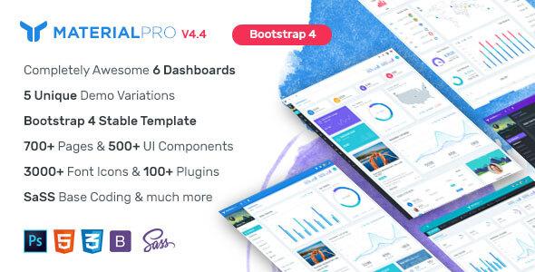 MaterialPro - Material Design Bootstrap 4 Admin Template