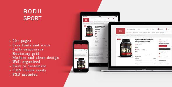 Extraordinary BodiiSport - E-commerce HTML Template