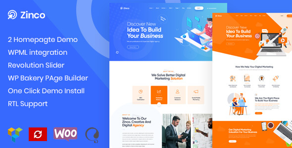Zinco - SEO & Digital Marketing Agency WordPress