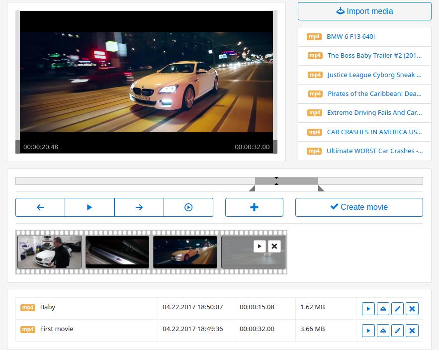 Web Video Editor Mini