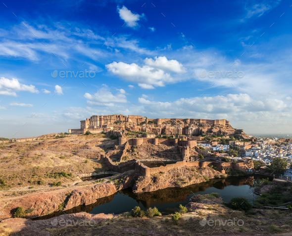 Mehrangarh Fort, Jodhpur, Rajasthan, India - Stock Photo - Images