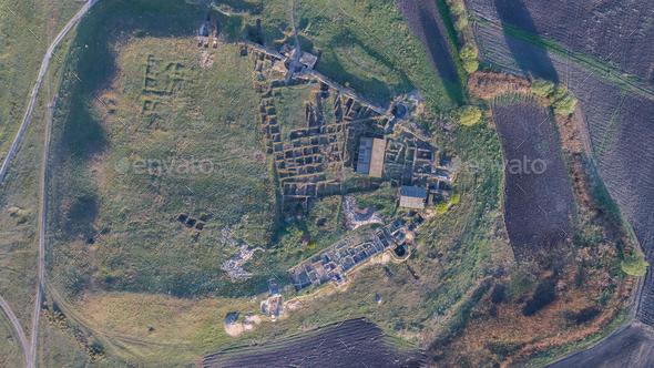 Halmyris Fortress ruins, Romania - Stock Photo - Images