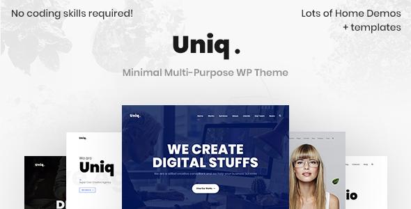 Uniq - Minimal Multipurpose Creative WordPress Theme